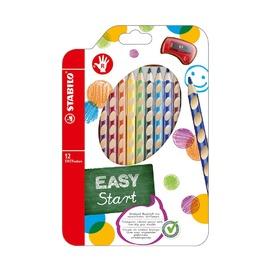 Набор цветных карандашей с точилкой для правшей Stabilo EasyColor, 12 шт.