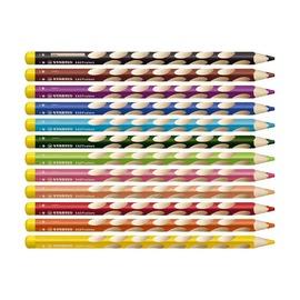 Набор цветных карандашей с точилкой для левшей Stabilo EasyColor, 12 шт.