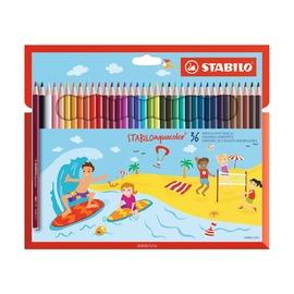 Набор акварельных карандашей Stabilo Aquacolor, 36 шт.