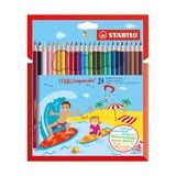 Набор акварельных карандашей Stabilo Aquacolor, 24 шт.