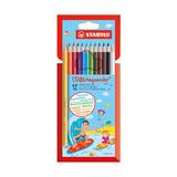 Набор акварельных карандашей Stabilo Aquacolor, 12 шт.