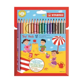 Набор цветных карандашей Stabilo Trio, 18 шт.