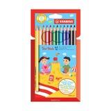 Набор цветных карандашей Stabilo Trio, 12 шт.