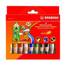 Набор карандашей Stabilo Woody с точилкой, 10 шт.