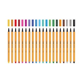 Капиллярная ручка Stabilo Point 88 Zebrui, 20 цветов