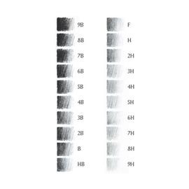 Чернографитный карандаш Stabilo Schwan 418 HВ, серебряный корпус