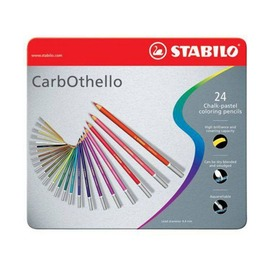Цветная пастель Stabilo Carbotello, 24 цвета, металлический футляр