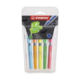 Набор шариковых ручек Stabilo 828 Mini Ghost, синие чернила, 5 шт.
