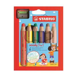 Набор карандашей Stabilo Woody с точилкой, 6 шт.